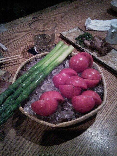 アスパラ トマト