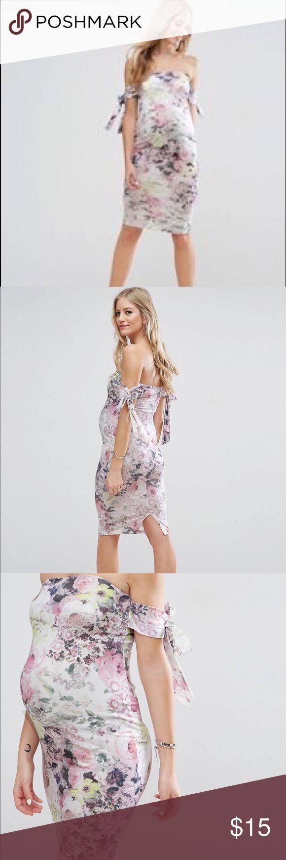 Best 25 maternity dresses uk ideas on pinterest maternity short asos maternity bow bardot midi dress ombrellifo Choice Image