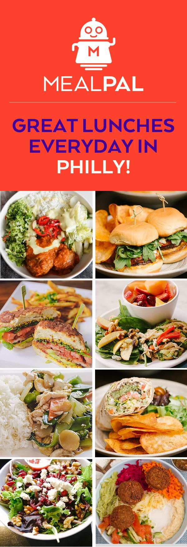 Get lunch for under $6 every day! We partner with BEST restaurants in Philly, including Milk House, Oishii Poke, Real Food Eatery, and more! Reserve lunch daily and skip the line when you pick up. MealPal is members only - request an invite now to skip the waitlist!