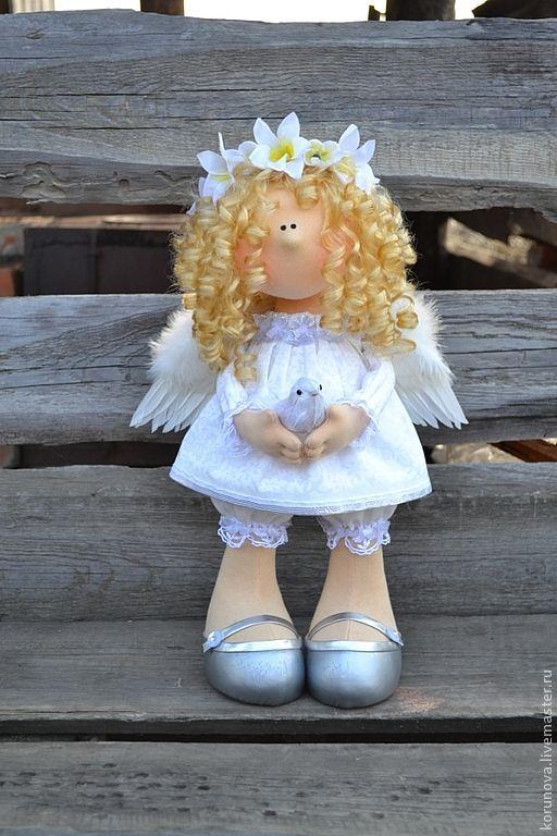Muñecas hechas Мано де colección.  Мастера Feria - Ангел Hecho Мано.  Hecho Мано.