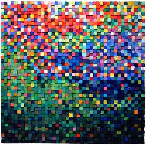 Carlos Estrada-Vega, Marcela 2012, Wax, limestone dust, oil, olepasto and pigments on wood