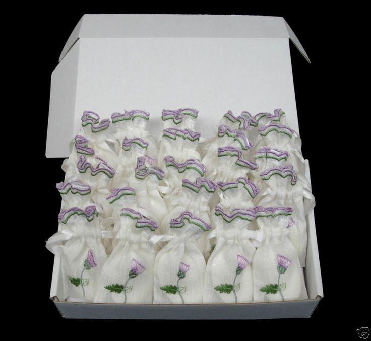 25 Thistle Scottish Wedding Favour Bags  Lavender Soap