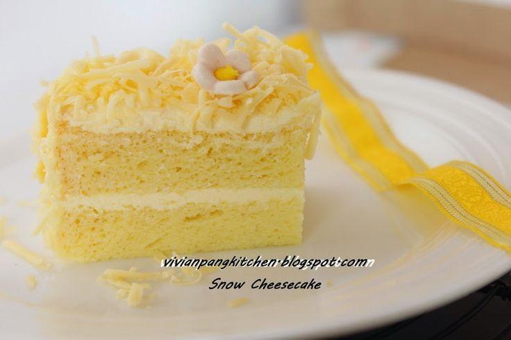 Vivian Pang Kitchen: Snow Cheesecake . Chiffon method