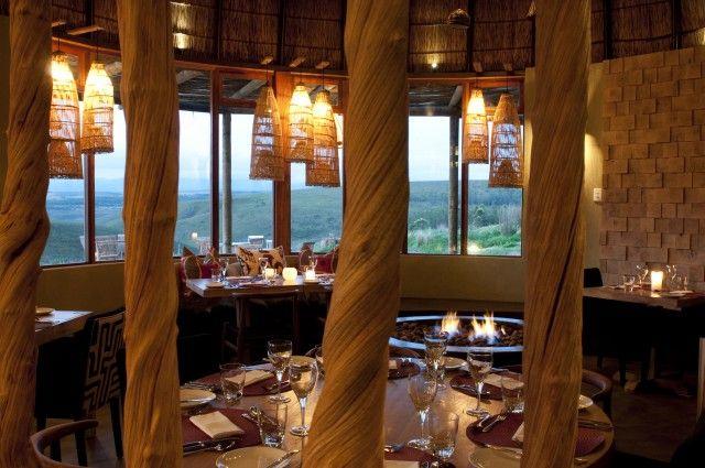 Dining Room At Kwena Lodge