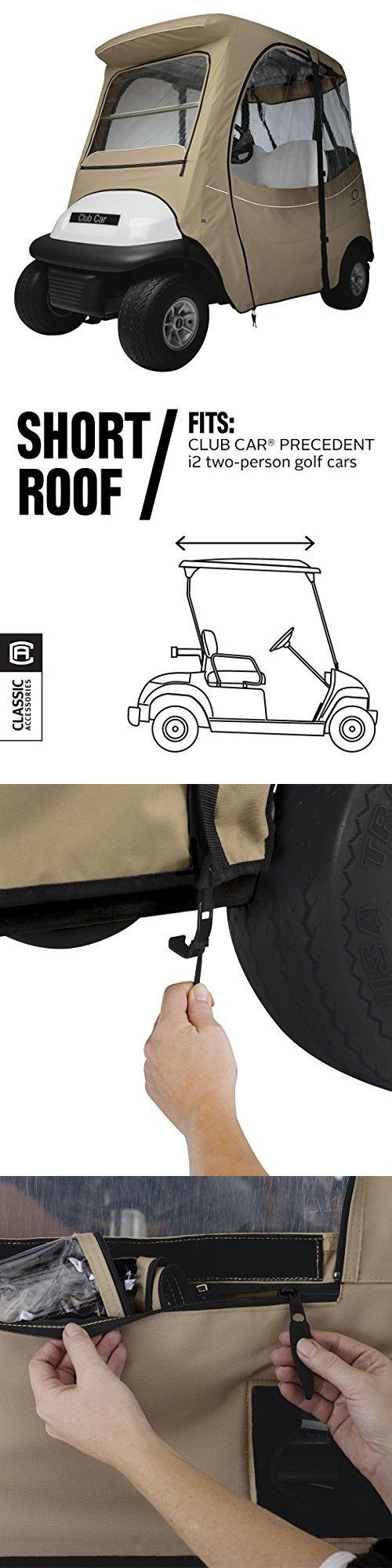 Push-Pull Golf Cart Add-ons 72671: Classic Accessories Fairway Golf Cart Fadesafe Enclosure For Club Car, Short Roo -> BUY IT NOW ONLY: $203.29 on eBay!