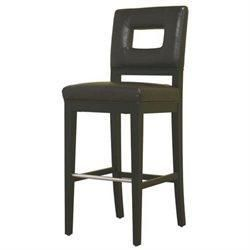 Wholesale Interiors Y-780-001-1 Faustino Dark Brown Leather Barstool - Each