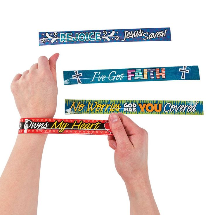 Religious Sayings Slap Bracelets