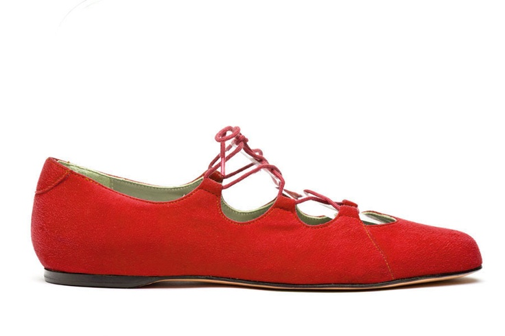 Acrobat Red, corset, ballet, suede, red