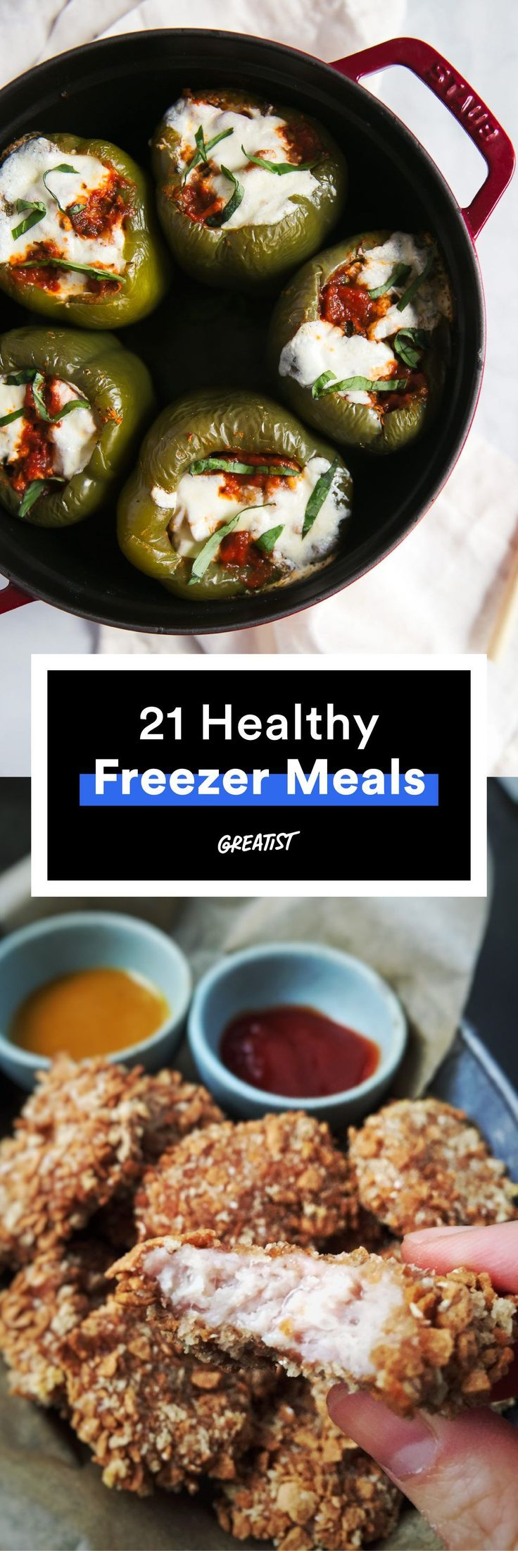 Make ahead recipes for breakfast, lunch and dinner :)