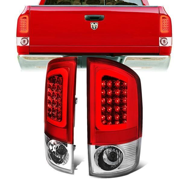 02 06 Dodge Ram 1500 2500 3500 Led C Bar Rear Brake Tail Lights Red Tail Light Ram 1500 Dodge Ram 1500