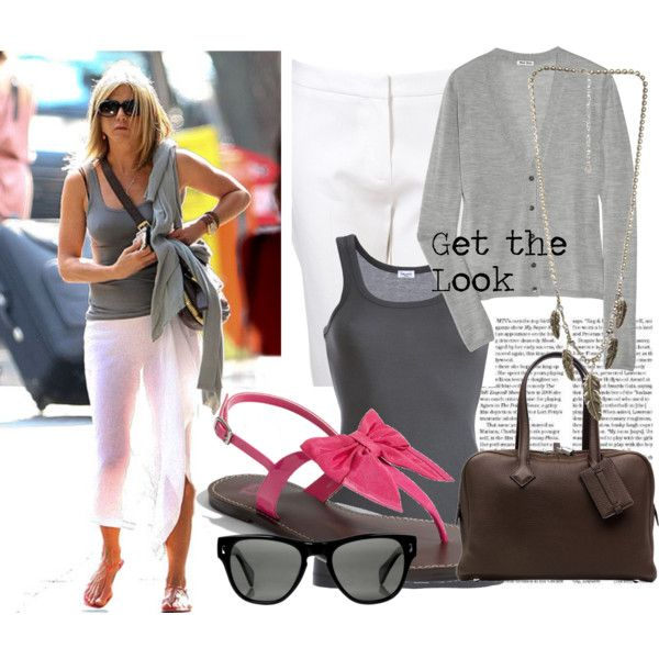 Celebrity Look: Jennifer Aniston, created by #sugarycupcake on #polyvore. #fashion #style Miu Miu #Splendid