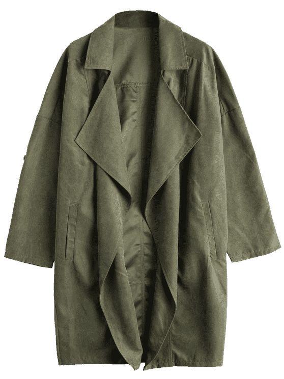 Abrigo de hombro con solapa - Verde del ejército S