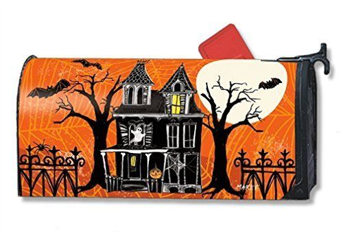 MailWraps Haunted House Mailbox Cover #01229 by MailWraps >  Part of Magnet Works collection of matching flags, mailbox covers, and yard signs;Attaches to metal mailboxes with magnetic strips. Adapter kit for non metal mailboxes sold separately.;Fits ... Check more at http://farmgardensuperstore.com/product/mailwraps-haunted-house-mailbox-cover-01229-by-mailwraps/