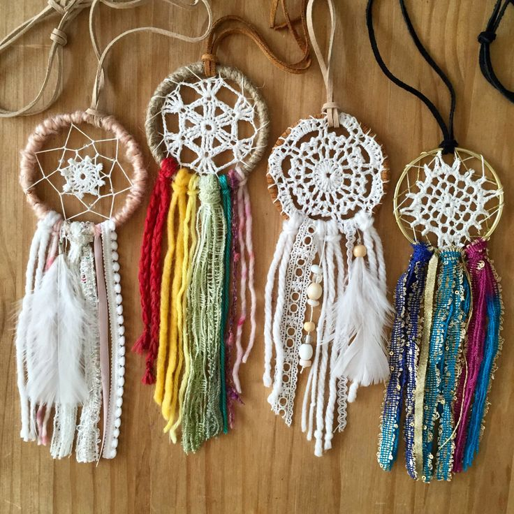 Mini, Small, Rainbow, Muti Colored, Colorful, Rear View Mirror Car Accessory Dreamcatcher, Handmade, Hippie, Crochet Doily, Handmade, Cute by Tiaralianna on Etsy https://www.etsy.com/listing/243494208/mini-small-rainbow-muti-colored-colorful