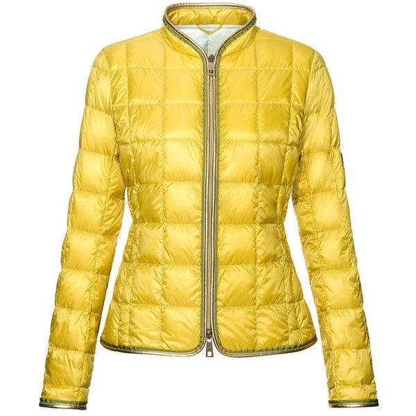 Fay - Light Down Jacket ($530) ❤ liked on Polyvore featuring outerwear, jackets, coats, yellow, zip jacket, yellow jacket, down jacket, fay jacket and down filled jacket