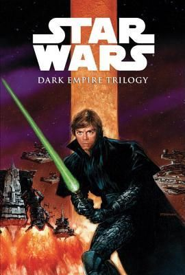 Star Wars: Dark Empire Trilogy by Tom Veitch -   Six years after the fall of the Empire in Return of the Jedi, the battle for the galaxy's freedom rages on. The Empire has been mysteriously reborn under an unknown leader, wielding a new weapon of great power. Princess Leia and Han Solo struggle to hold together the New Republic while the galaxy's savior, Luke Skywalker, fights an inner battle as he is drawn....