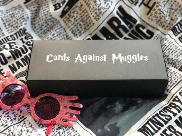 Cards Against Muggles - Cards Against Humanity Harry Potter - Download the PDF and take it to a print shop. 3 PDF files are included. It contains 850 white cards, 350 black cards, and both the black and white backs.There are over 150 pages, 9...