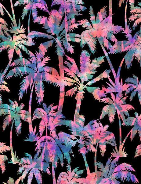 Maui Palm {Black} Art Print by Schatzi Brown | Society6