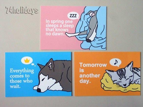 ご覧頂きありがとうございます。★動物の寝顔とことわざを組み合わせて作りました★動物好きな方に送ってみてはいかがでしょうか?【NAYO-IG-02】 犬・イタリ...|ハンドメイド、手作り、手仕事品の通販・販売・購入ならCreema。