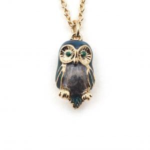Owl Mini Pendant - Blue