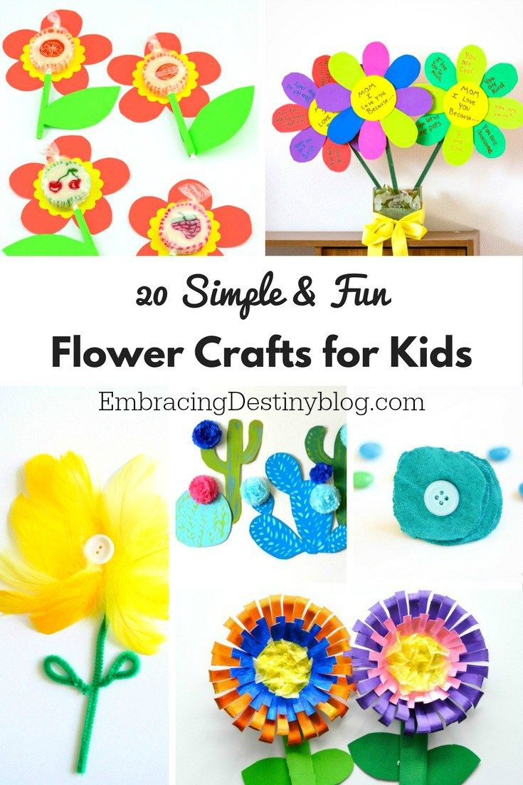 Fun & Simple Flower Crafts for Kids   arts and crafts for kids   spring and summer crafts