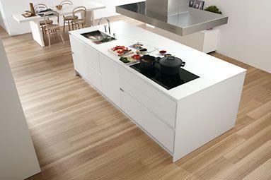 Mueble cocina dica blanco polar dise o cocina con isla for Muebles de cocina dica