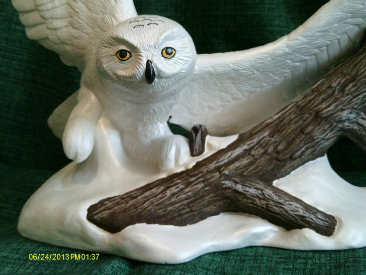 Snowy Owl on the hunt. Hand painted by Ginny Radtke.