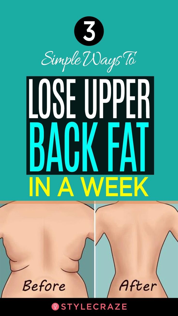 3 Simple Ways To Lose Upper Back Fat In A Week