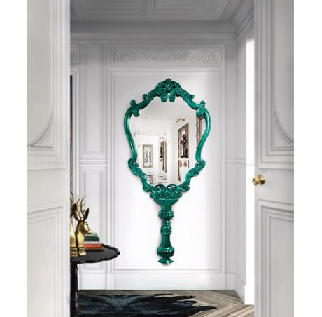 Boca do Lobo | Boasting a contemporary design with beautiful lines and special elements, the Marie Thérèse brings a breath of life to the space it is fitted in. #wallmirror #largemirror #mirrorforlivingroom Find more here: http://www.bocadolobo.com/en/limited-edition/mirrors/marie-therese/