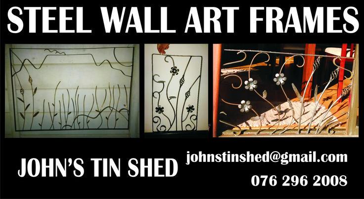 Custom Steel Wall Art Frame Examples