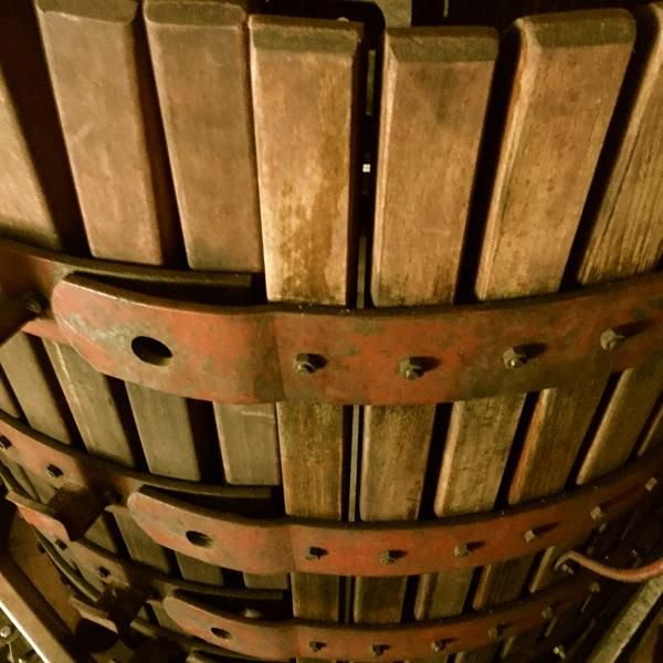 Our reds, after a couple of weeks in cement fermenters, are pressed off the skins & racked into barrel. #SAHarvest2015