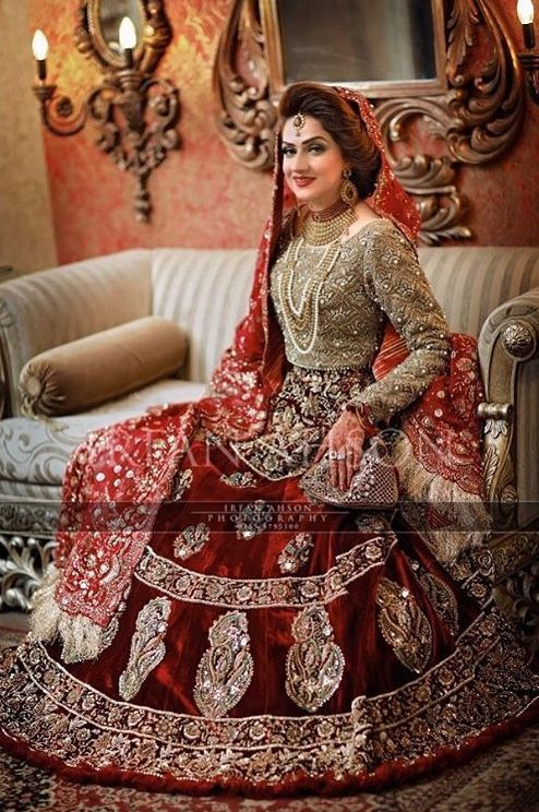Pakistan Bride Wedding Asian Dress Pakistani Dresses Bridal Outfits Party Bridle Hindu