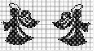 angels cross stitch pattern: