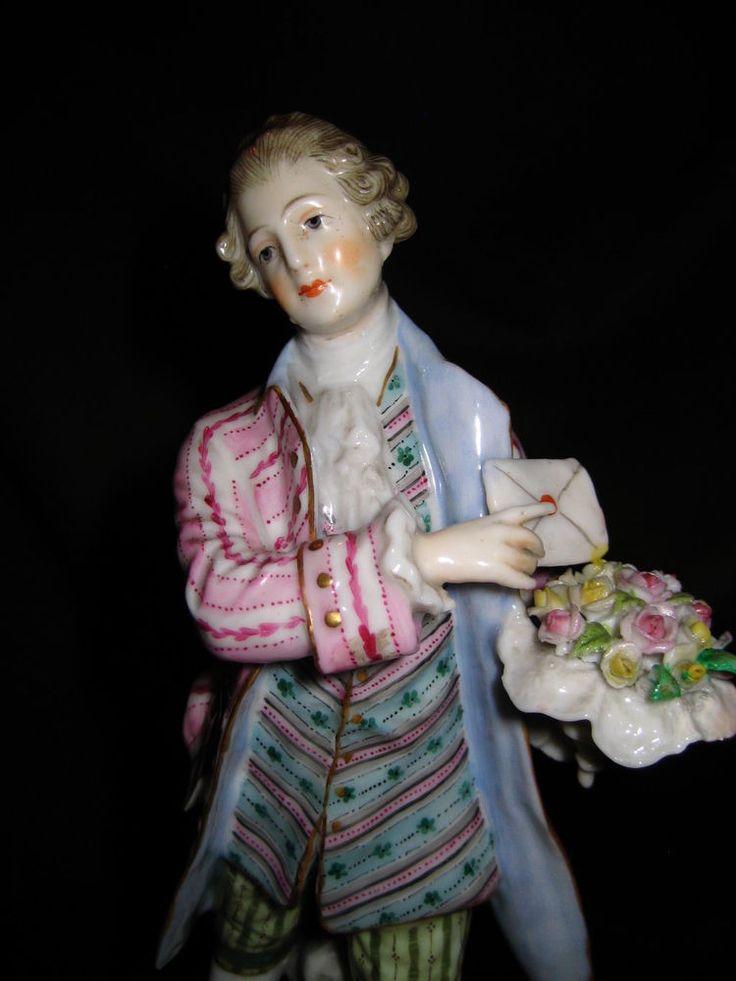 Porzellan Figur Rosenkavalier Augarten Wien Vienna Bindenschild porcelain figure
