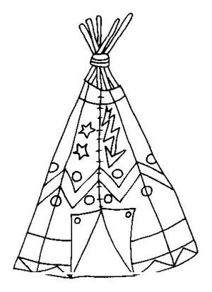 indians coloring page 21 - Native American Coloring Pages