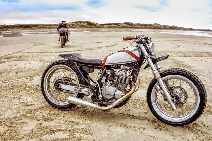 Suzuki brat via http://www.sankakel.com/en/dr-350-custom-flat-tracker/