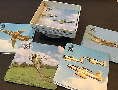 Vintage Coasters X 20 Royal Australian Air Force Hanna Match Military Aircraft