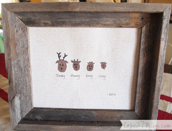 Thumbprint Reindeer Art | Cute!
