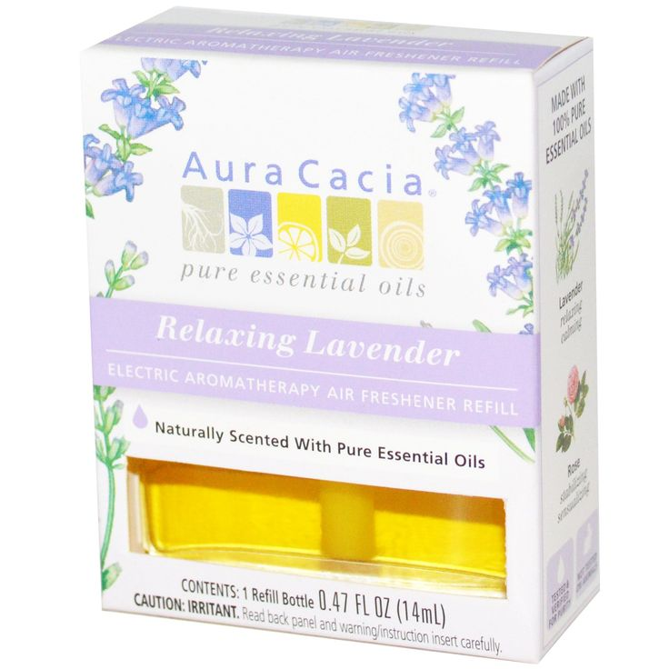 Aura Cacia, Electric Aromatherapy Air Freshener Refill, Relaxing Lavender, 0.47 fl oz (14 ml)