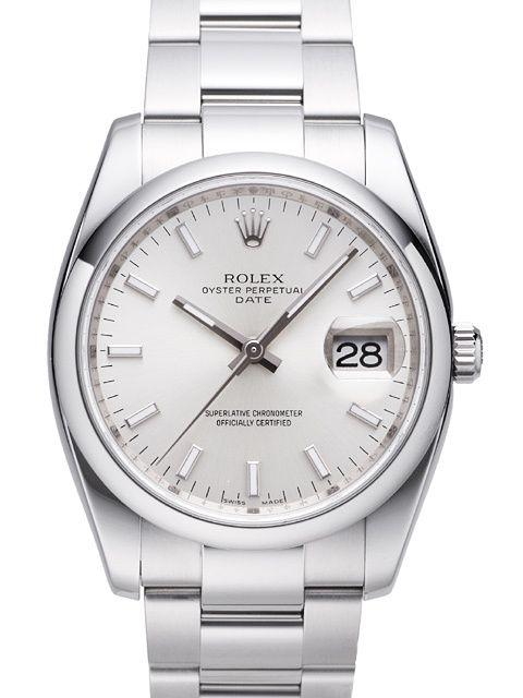Rolex Oyster Perpetual Date 34 115200 Silber Index