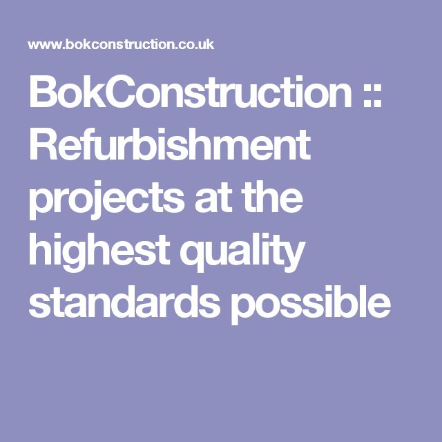 BokConstruction :: Refurbishment projects at the highest quality standards possible