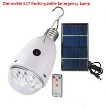 Rechargebal  indoor lighting Dimmable E27 led solar lamp with remote control  AC90~260V/DC6V outdoor lighting solar caping light Digital Guru Shop  Check it out here---> http://digitalgurushop.com/products/rechargebal-indoor-lighting-dimmable-e27-led-solar-lamp-with-remote-control-ac90260vdc6v-outdoor-lighting-solar-caping-light/
