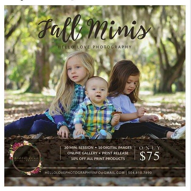 Fall is begin. Use this template for your photography service! Beautiful creation from Hello Love Photography. Please support them!