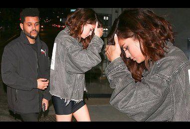 Leggy Selena Gomez with The Weeknd
