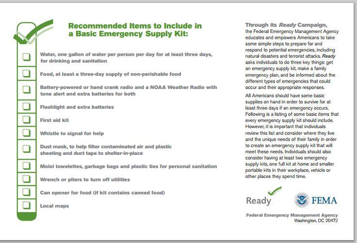 Fema business continuity plan