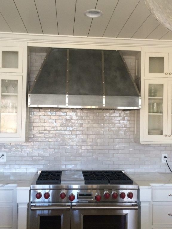 gularson hood pewter finish zinc hood with stainless steel straps and dads