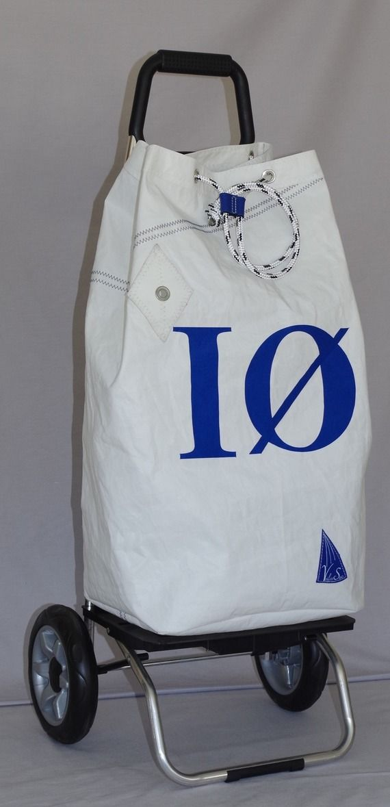 Trolley with bag made from recycled sail by voilensac