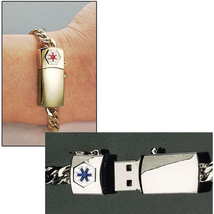 Md Alert Medical History Flash Drive Bracelet Carry
