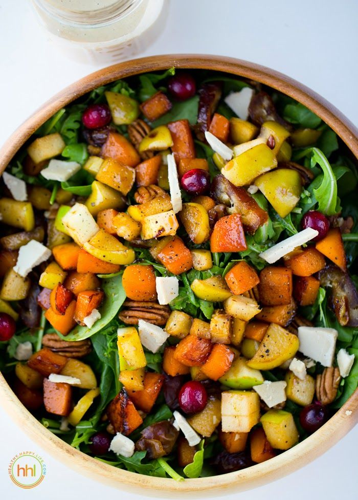 We could really go for some butternut squash, apple, and pecan salad right about now.