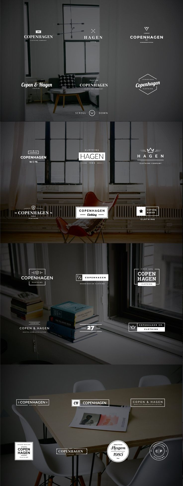 30 Best Logo Images On Pinterest Vintage Logos Templates And Circuit Board Wall Clock By Monogramit Copenhagen 25 Minimalistic